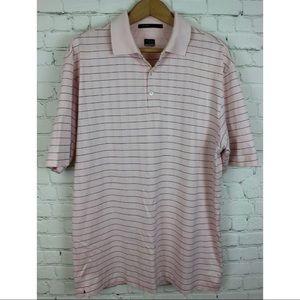 Nike Tiger Woods Size L Pink Black Shirt Golf